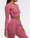 Arise Comfort Cropped Long Sleeve - Pink