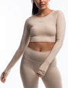 Echt Scrunch Cropped Long Sleeve - Nude