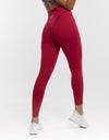 Echt Force Scrunch Leggings - Crimson