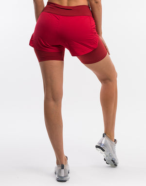 Echt Range Running Shorts - Burgundy