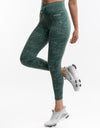 Echt Tempo Jump Leggings - Pine Green