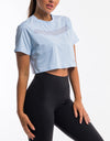 Echt Mesh Cropped Tee - Air Blue