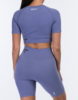 Arise Comfort Crop Top - Velvet Blue