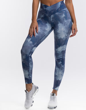 Echt Coral Scrunch Leggings - Sky Blue
