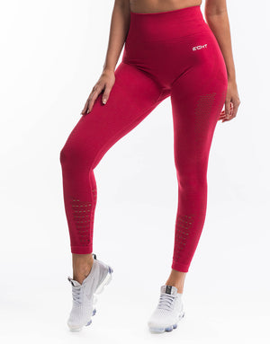 Arise Prime Leggings - Crimson