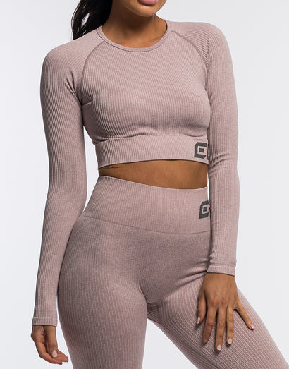 Arise Comfort Cropped Long Sleeve - Mauve