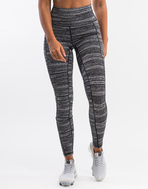 Echt Essentia Pocket Leggings - Black Stripe