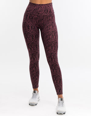 Echt Essentia Scrunch Leggings - Berry Zebra