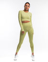 Arise Prime Cropped Long Sleeve - Lime