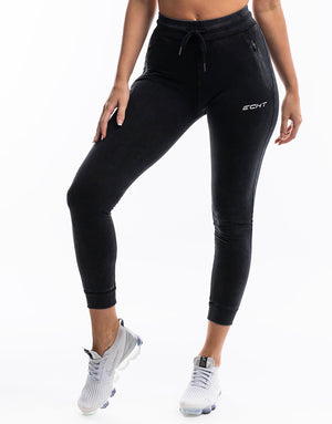 Echt Wash Ladies Tapered Joggers - Black