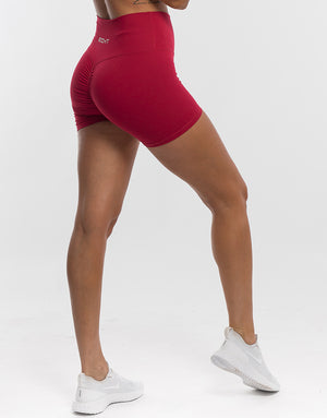 Echt Force Scrunch Shorts - Crimson