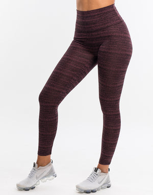 Echt Essentia Scrunch Leggings - Berry Stripe