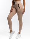 Ladies Tapered Joggers - Nude