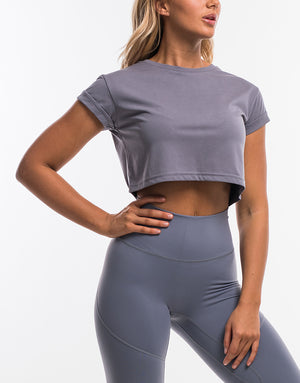 On The Fly Cropped Tee - Quicksilver