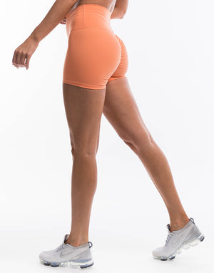 Echt Force Scrunch Shorts - Cantaloupe
