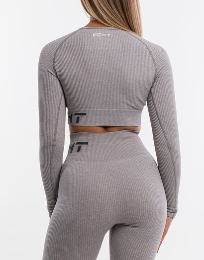 Arise Comfort Cropped Long Sleeve - Flint