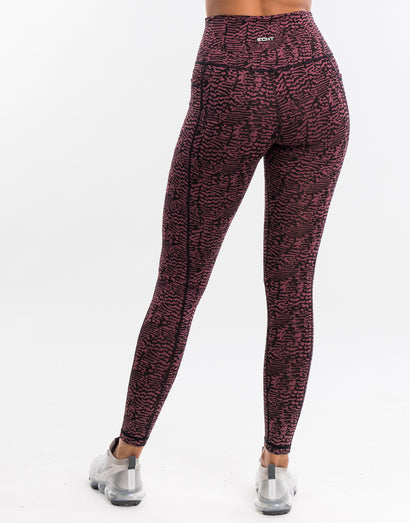 Echt Essentia Pocket Leggings - Berry Zebra