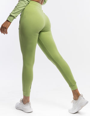 Ladies Tapered Joggers - Lime