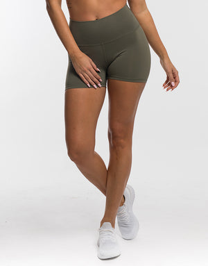 Echt Force Scrunch Shorts - Dusty Olive