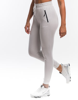 Ladies Tapered Joggers - White Cloud