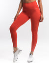 Echt Scrunch Leggings II - Grenadine Red