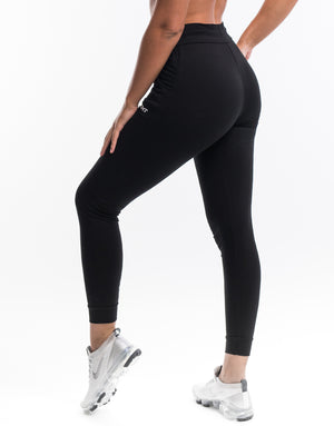 Ladies Tapered Joggers V2 - Black