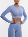Arise Pure Cropped Long Sleeve - Bel Air Blue