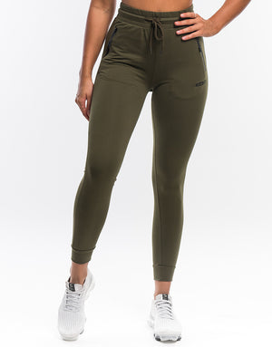 Ladies Tapered Joggers - Dusty Olive