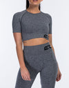 Arise Comfort Crop Top - Charcoal