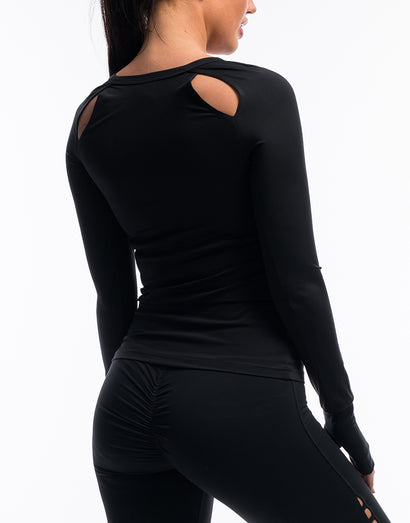 Echt Scrunch Long Sleeve - Black