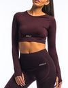 Arise Cropped Long Sleeve V2 - Berry