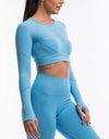 Arise Scrunch Crop Top - Blue