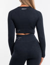 Arise Comfort Cropped Long Sleeve - Navy