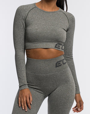 Arise Comfort Cropped Long Sleeve - Khaki