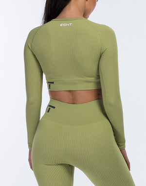 Arise Comfort Cropped Long Sleeve - Lime Green