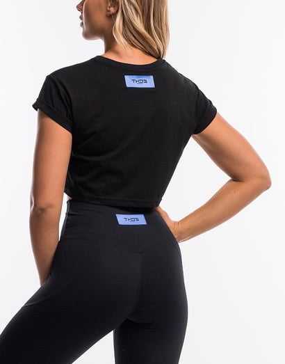 On The Fly Cropped Tee - Black
