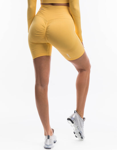 Arise Scrunch Shorts - Yellow