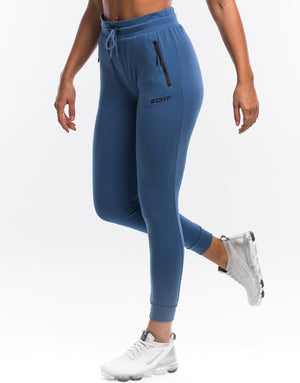 Ladies Tapered Joggers - Deep Blue