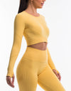 Arise Scrunch Crop Top - Yellow