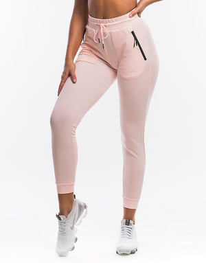 Ladies Tapered Joggers - Pearl Pink