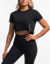 Force Cropped Tee - Black