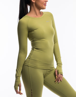 Echt Scrunch Long Sleeve - Lime