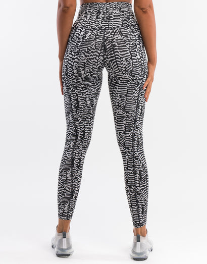 Echt Essentia Pocket Leggings - Zebra Stripe