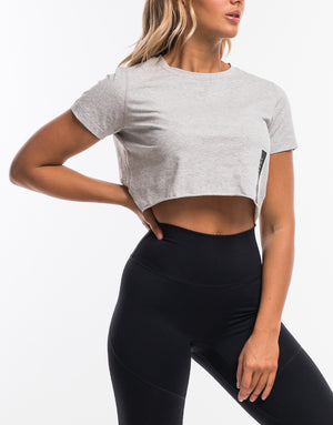 Force Cropped Tee - Heather Grey