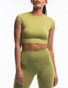 Echt Scrunch Cropped Tee - Lime