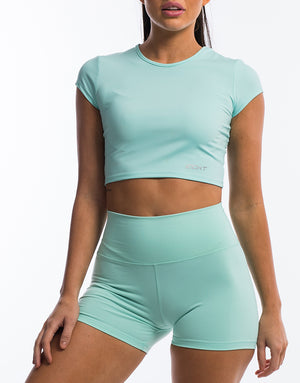 Echt Scrunch Cropped Tee - Mint