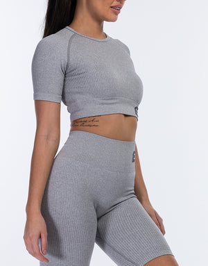 Arise Comfort Crop Top - Flint