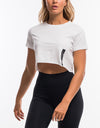 Force Cropped Tee - White