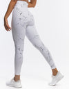 Echt Marble Scrunch Leggings - White