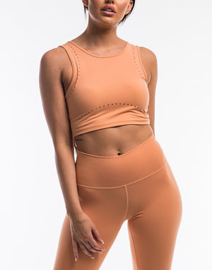 Echt Icon Crop Top - Peach